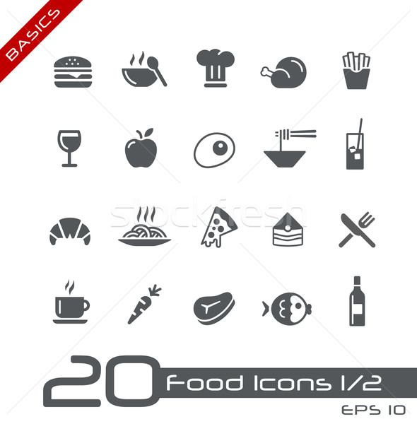 Stock photo: Food Icons - Set 1 of 2 // Basics