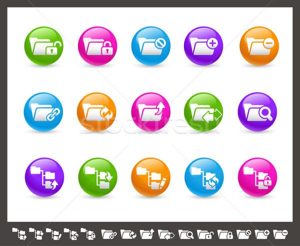 Folder Icons - 1 of 2 // Rainbow Series Stock photo © Palsur
