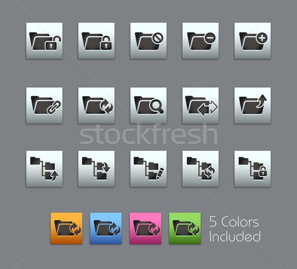 Folder Icons - 1 of 2 -- Satinbox Series Stock photo © Palsur