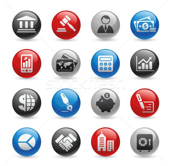 Działalności finansów ikona żel zawodowych stronie Zdjęcia stock © Palsur