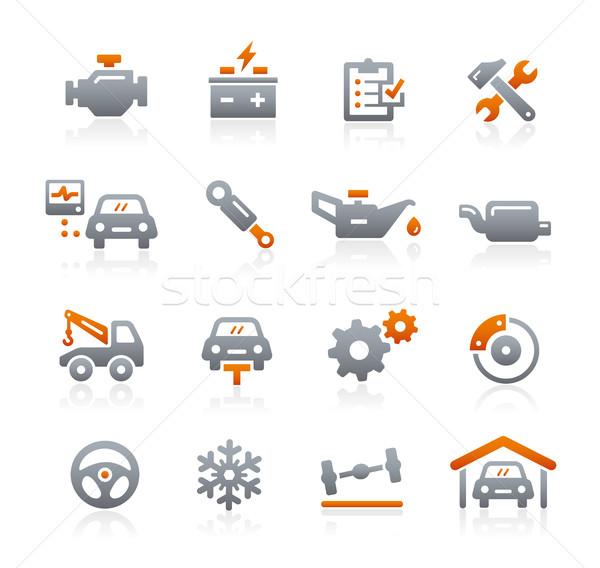 Car Service Vector Icons -- Graphite Series Stock photo © Palsur