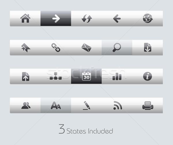 Stok fotoğraf: Web · navigasyon · vektör · dosya · düğmeler · farklı