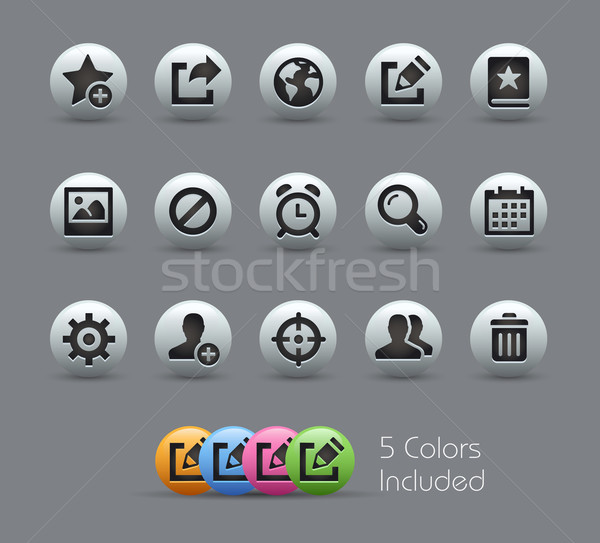 Communication Interface Icons -- Pearly Series Stock photo © Palsur