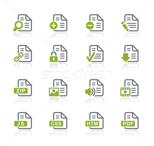 Documents Icons - 1 of 2 -- Natura Series Stock photo © Palsur