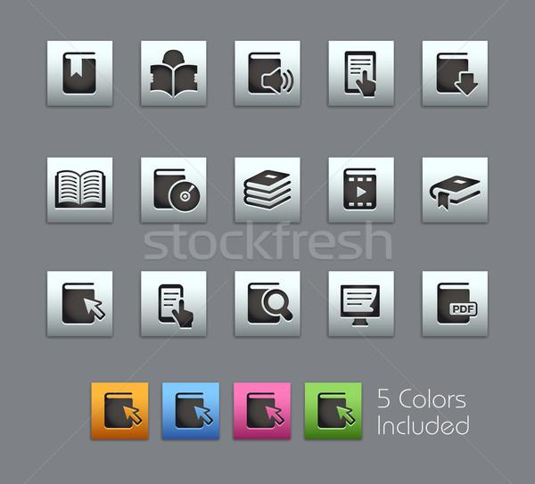 Book Icons -- Satinbox Series Stock photo © Palsur