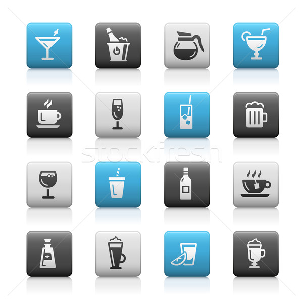 Drinks Icons - Matte Series Stock photo © Palsur