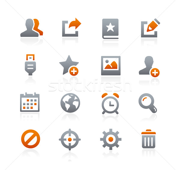 Web and Mobile Icons 2 -- Graphite Series Stock photo © Palsur