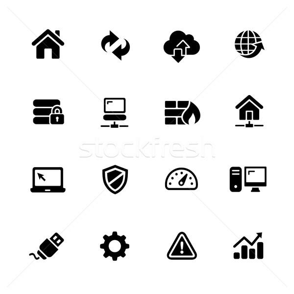 Network Icons // Black Series Stock photo © Palsur