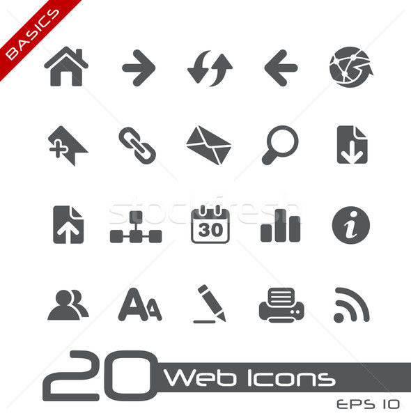 Web Icons // Basics Stock photo © Palsur