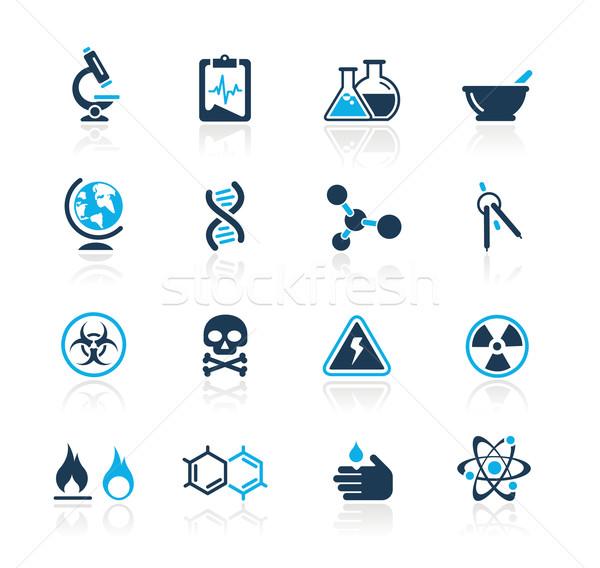 Wetenschap azuur professionele iconen website presentatie Stockfoto © Palsur