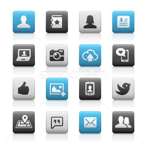 Social Icons - Matte Series Stock photo © Palsur