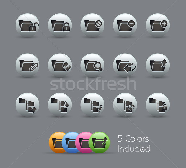 Folder Icons - 1 of 2 // Pearly Serie Stock photo © Palsur