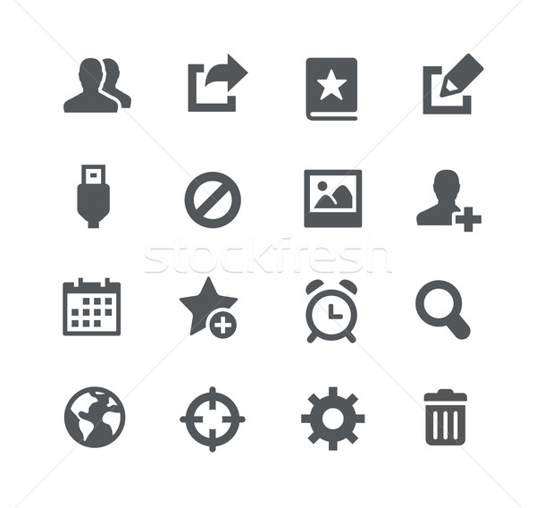 Communication Icons // Apps Interface Stock photo © Palsur