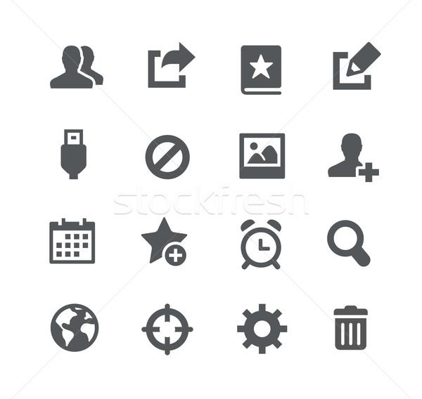 Komunikacji ikona aplikacje interfejs wektora internetowych Zdjęcia stock © Palsur