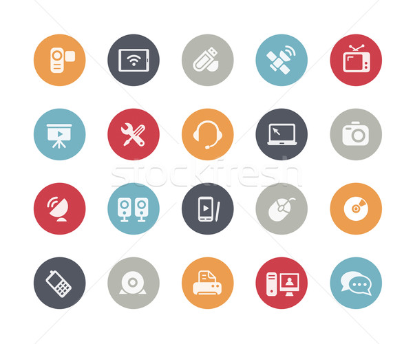Communication Icons // Classics Series Stock photo © Palsur