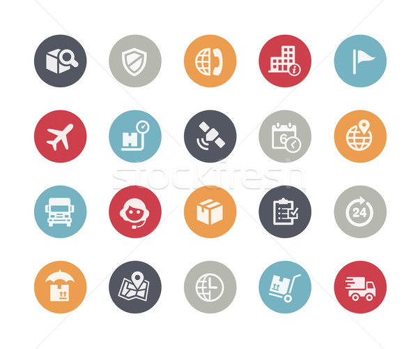 Shipping and Tracking Icons // Classics Series Stock photo © Palsur