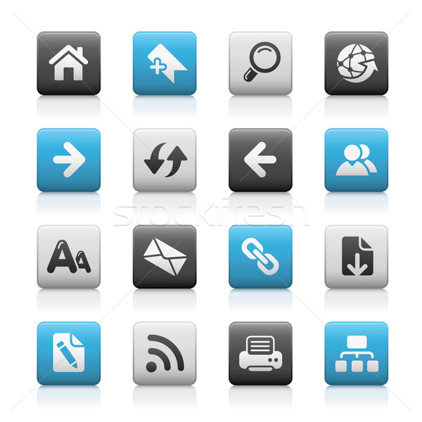 Web Navigation Icons // Matte Series Stock photo © Palsur