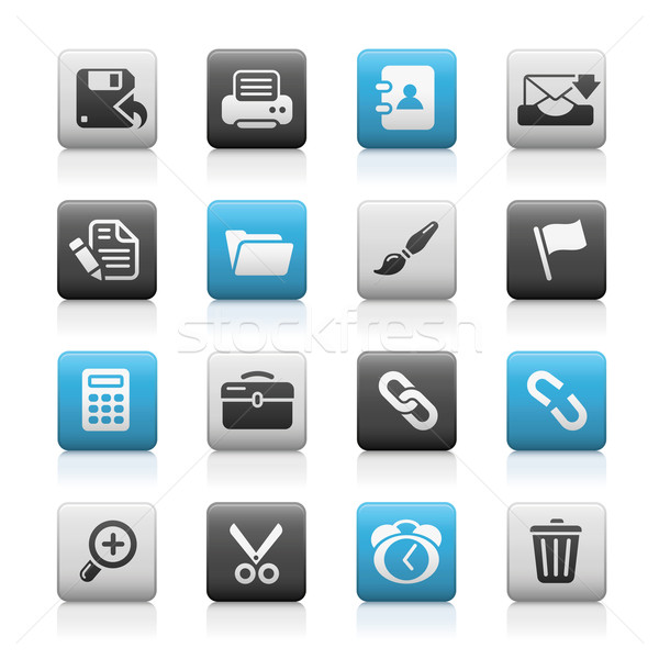 Interface Web Icons // Matte Series  Stock photo © Palsur