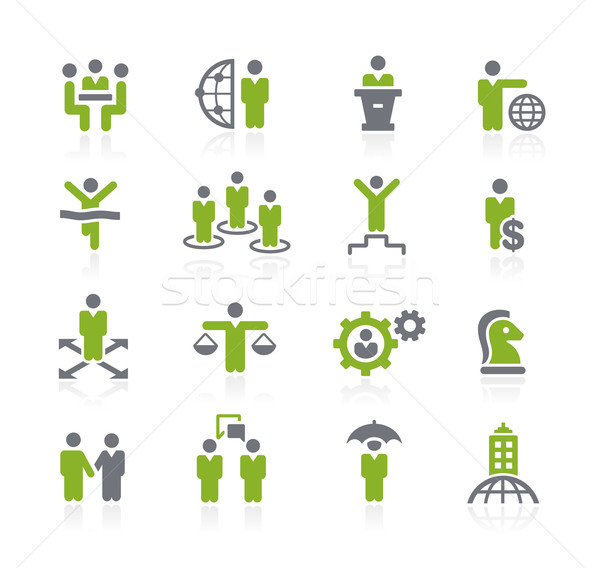 Business Success Icons // Natura Series Stock photo © Palsur