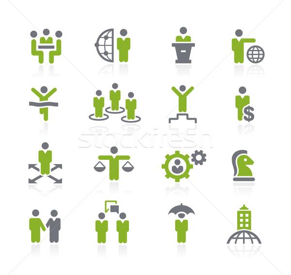 Negocios éxito iconos vector web móviles Foto stock © Palsur