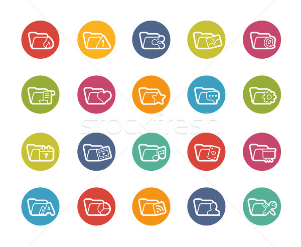 Folder Icons - 2 of 2 // Printemps Series Stock photo © Palsur