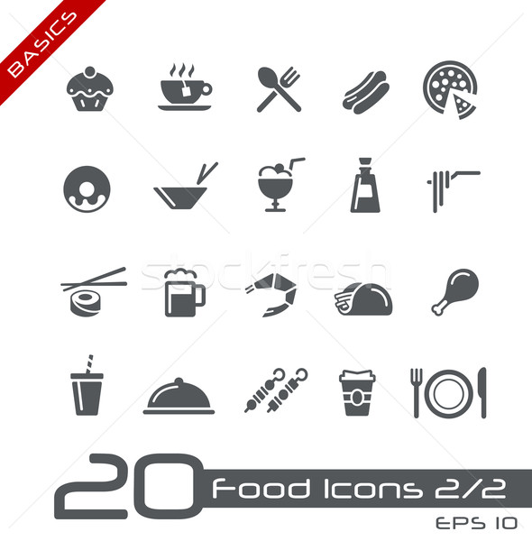 Food Icons - Set 2 of 2 // Basics Stock photo © Palsur