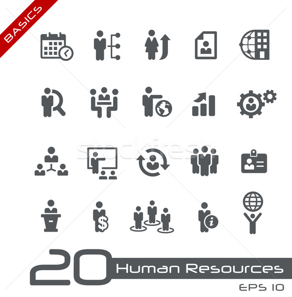 Icons Set of Human Resources and Business Management -- Basics Stock photo © Palsur