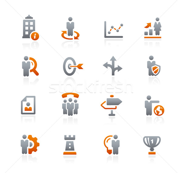 Bedrijf business strategieën grafiet vector iconen Stockfoto © Palsur