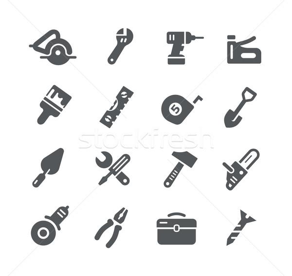 Tools iconen utility vector digitale print Stockfoto © Palsur