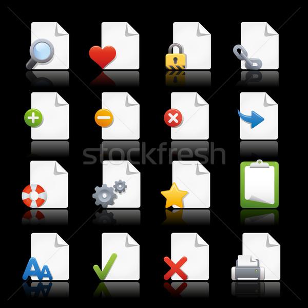 Stock fotó: Webes · ikonok · oldalak · profi · ikonok · háló · projektek