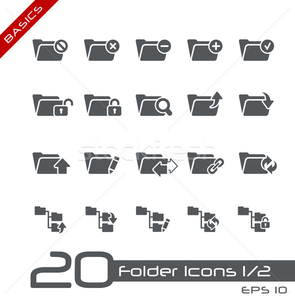 Folder Icons - Set 1 of 2 // Basics Stock photo © Palsur
