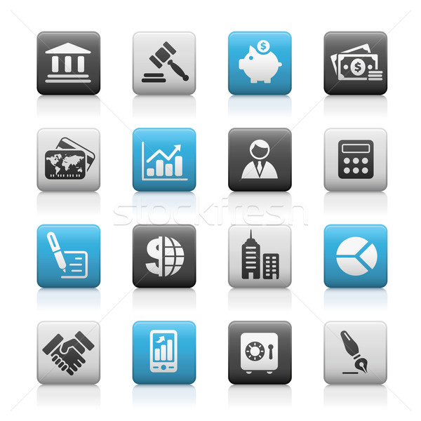 Business & Finance Icons // Matte Series Stock photo © Palsur