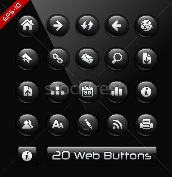 Icons for Web Developers -- Black Label Series Stock photo © Palsur