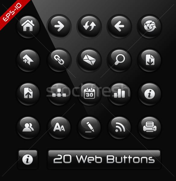 Icônes web noir étiquette vecteur Photo stock © Palsur