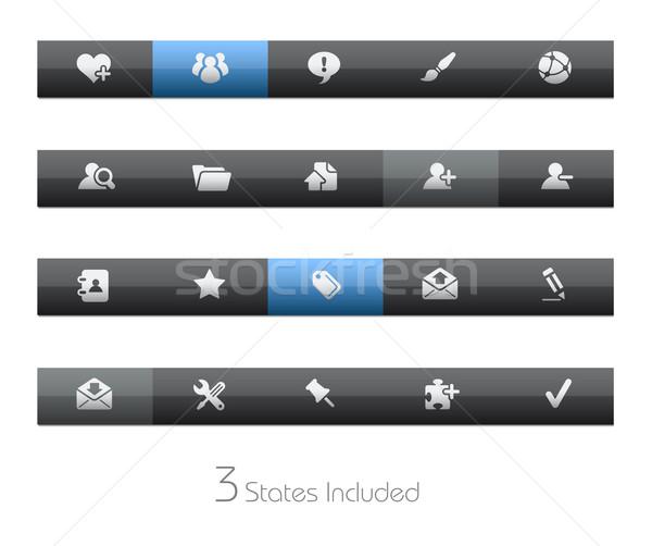 Internet blog vettore file pulsanti diverso Foto d'archivio © Palsur
