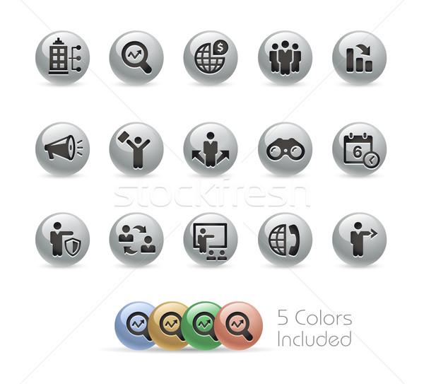 ストックフォト: ビジネス · 金属 · ベクトル · ファイル · 色