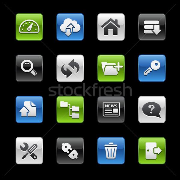 Hosting Icons -- Gelbox Series  Stock photo © Palsur
