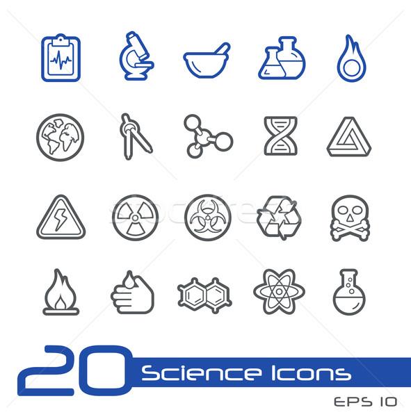 科学 アイコン 行 ベクトル ウェブサイト プレゼンテーション ストックフォト © Palsur