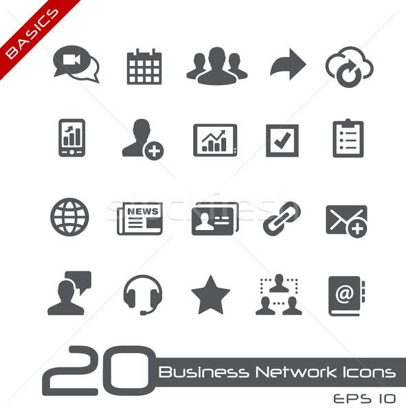 Business Network Icons // Basics Stock photo © Palsur
