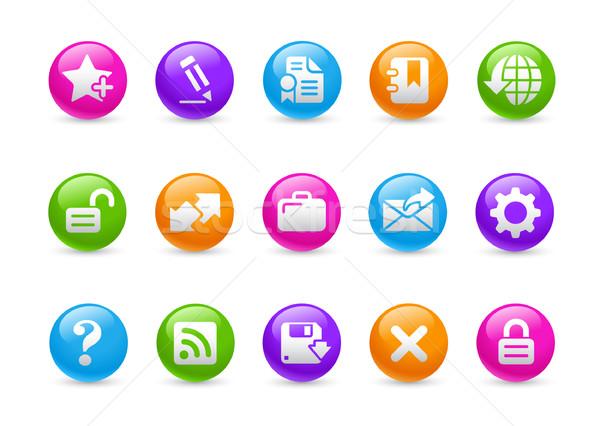 Web 20 Rainbow professionnels icônes site Photo stock © Palsur