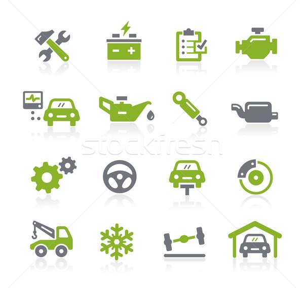 Araba hizmet simgeler vektör web hareketli Stok fotoğraf © Palsur