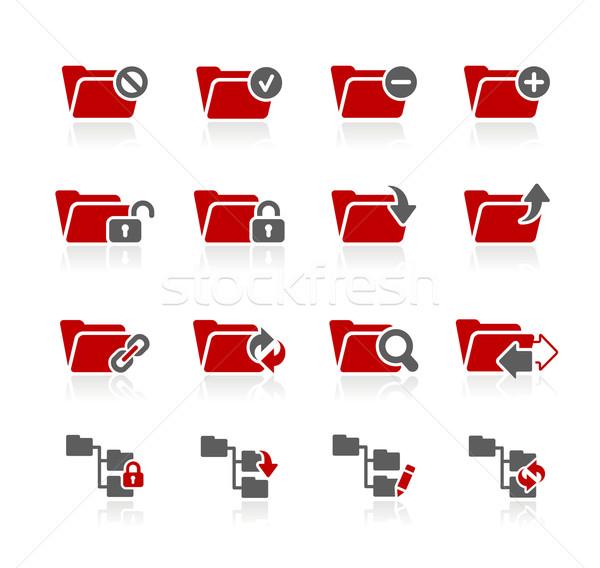 Klasör simgeler vektör web baskı projeler Stok fotoğraf © Palsur