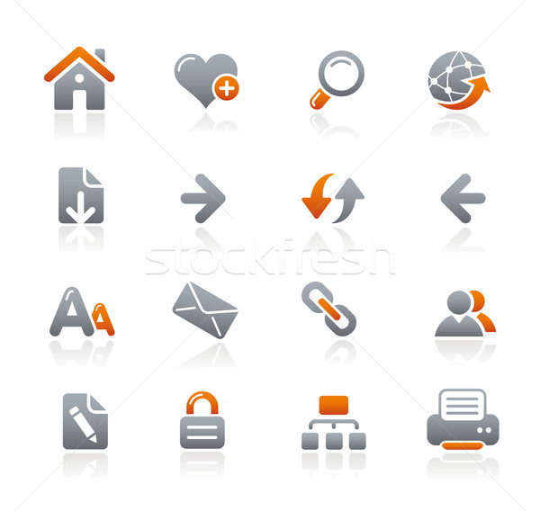 Web Navigation Icons // Graphite Series Stock photo © Palsur