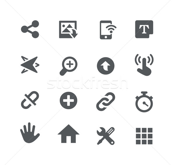 System Icons // Apps Interface Stock photo © Palsur
