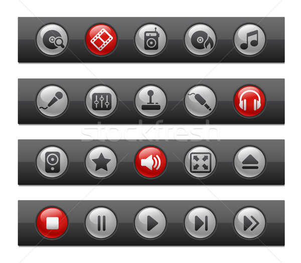 Media & Entertainment // Button Bar Series Stock photo © Palsur