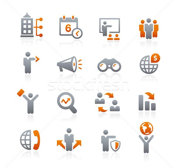 Business iconen grafiet vector digitale Stockfoto © Palsur