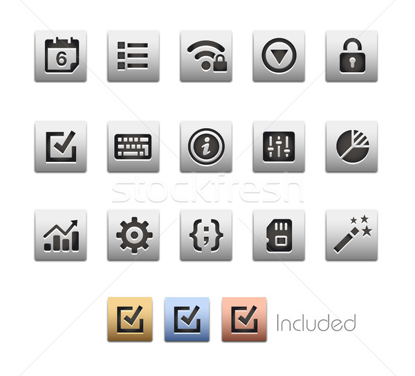 Stock photo: Interface Icons 4 - Metalbox Series