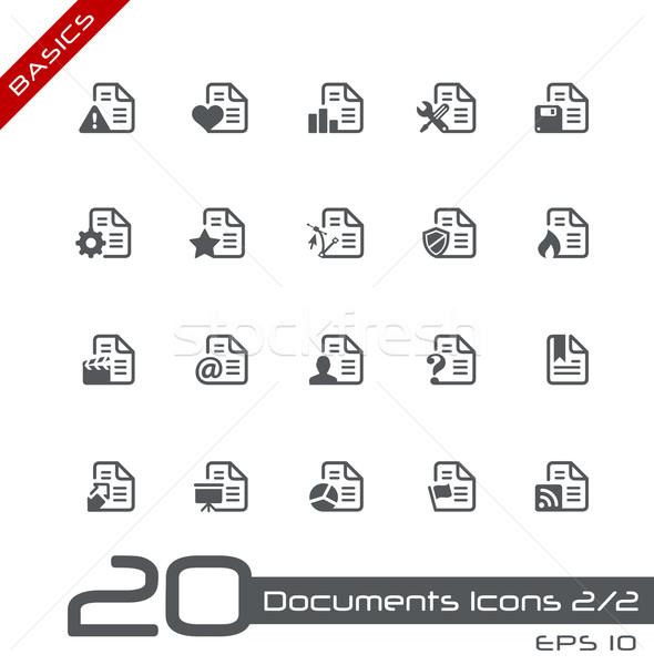 Documents Icons - Set 2 of 2 // Basics Stock photo © Palsur