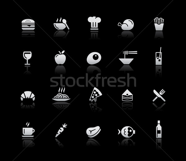Food Icons - Set 1 -- Silver Series Stock photo © Palsur