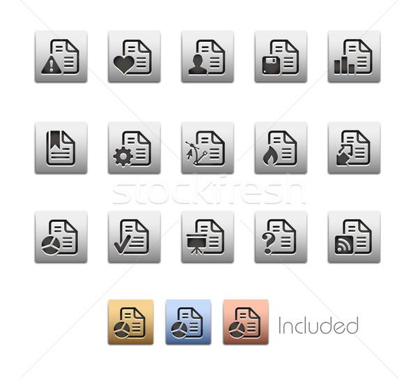 Documents Icons - Set 2 -- Metalbox Series Stock photo © Palsur